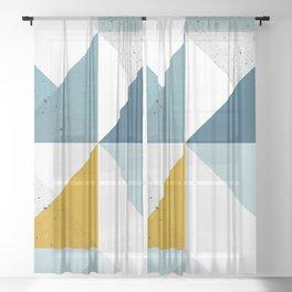 Modern Geometric 18 Sheer Curtain
