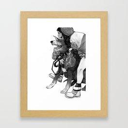 Bite Me (Doberman) Framed Art Print
