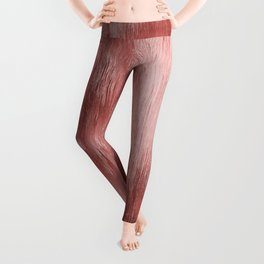 Red Pixel Abstract by Mixinmadness Leggings