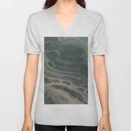 White Rivers, Acrylic Pour Unisex V-Neck