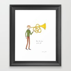 blow the horn you've got Framed Art Print
