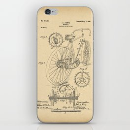 1899 Patent Bicycle Velocipede iPhone Skin