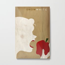 Snow White Minimalist Fairytales Metal Print