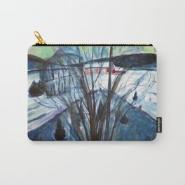 Edvard Munch - Winter Night Carry-All Pouch