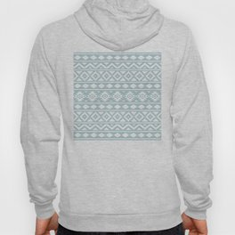 Aztec Essence Ptn III White on Duck Egg Blue Hoody