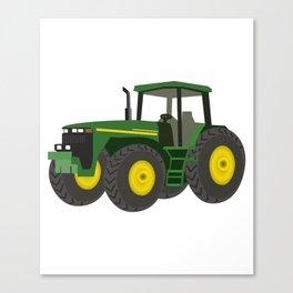 Green Farm Tractor Canvas Print