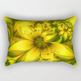 Happiness Is a Meadow of Yellow Daffodil Flowers Rectangular Pillow