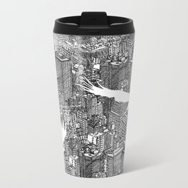 Ecotone (black & white) Metal Travel Mug