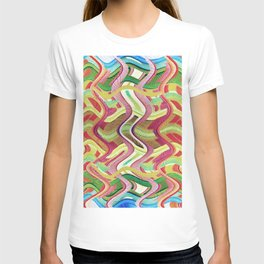 409 - Abstract Colour Design T-shirt