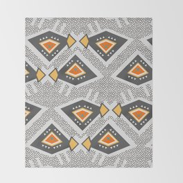 Dotted ethnic pattern Throw Blanket
