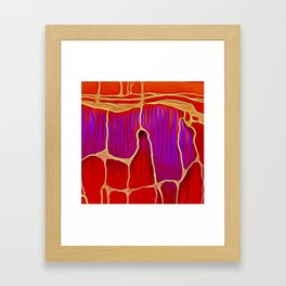 Distant Trees in Violet and Vermillion Framed Art Print