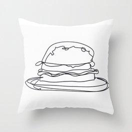 Cheeseburger Cheeseburger Throw Pillow