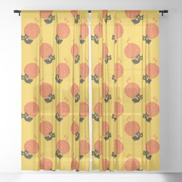 Fitz - Happiness (cat and yarn) Sheer Curtain
