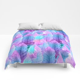 Mermaid Colored Leaves Vibes #1 #decor #art #society6 Comforters