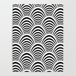 Art Deco Palm Pattern Poster