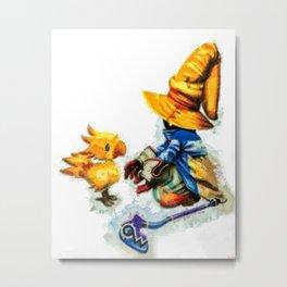 Vivi and the Chocobo Final Fantasy 9 Metal Print