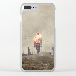These cities burned my soul Clear iPhone Case