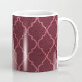 Elegant burgundy faux pink rose gold quatrefoil Coffee Mug