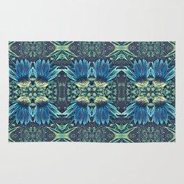 Blue Echinacea, Teal Cone Flowers, Blue Flower Dream Rug