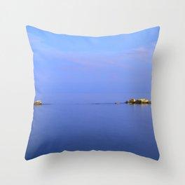 San Cristobal Reefs. Blue hour Throw Pillow