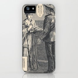Vintage poster - The Maruis of Lossie Manga iPhone Case