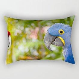 Blue Hyacinth Macaw - Anodorhynchus hyacinthinus Rectangular Pillow