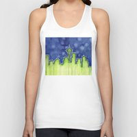 seattle Tank Tops featuring Seattle  by Olechka