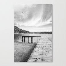 Dock on Lake Canvas Print