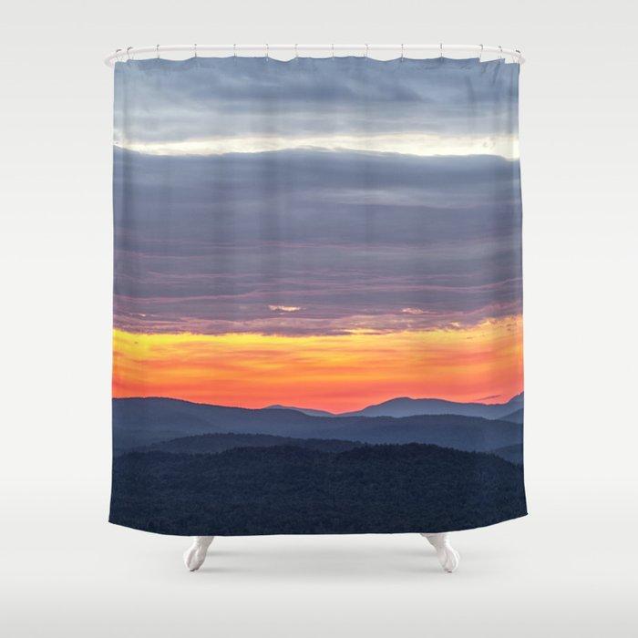 Subtle Sunrise Shower Curtain By Bonniemartin