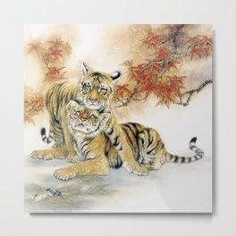 Two Tigers Metal Print