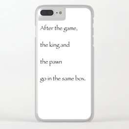 The game Clear iPhone Case