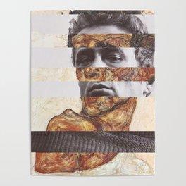 Egon Schiele's Self Portrait with Bare Shoulder & James D. Poster