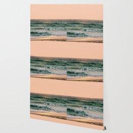 Pink Skies Ocean Vibes Wallpaper