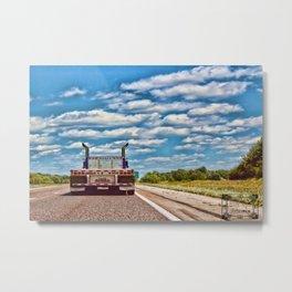 Truckin Metal Print
