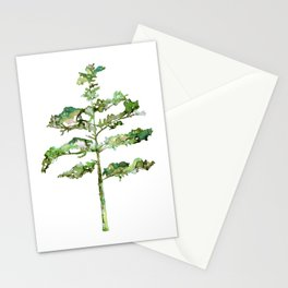 Pine Tree #3 in Green - Ink painting Stationery Cards