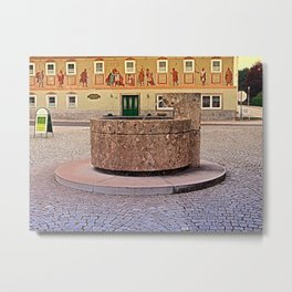 The village fountain of Kronstorf | architectural photography Metal Print