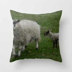 Wooly Sheep Throw Pillow