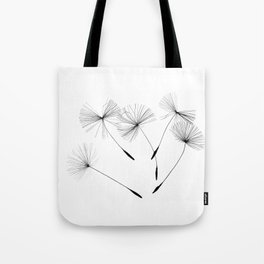 Dandelion seeds, Tote Bag