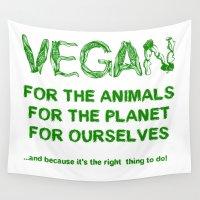 vegan Wall Tapestries featuring Why Vegan? by VegArt