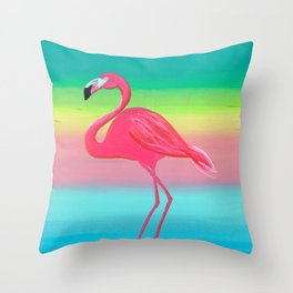 Not Afraid of Colors Throw Pillow