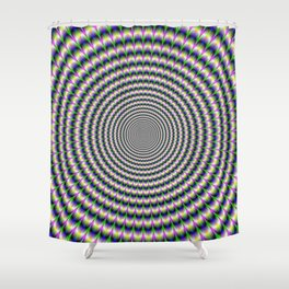 Brain-Buster in Blue Green and Violet Shower Curtain