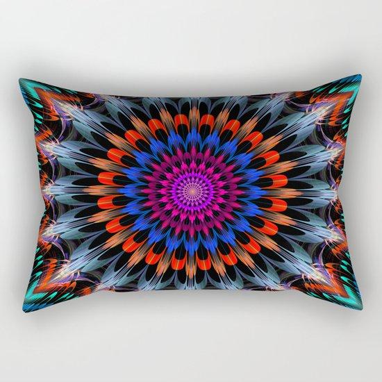Full Bloom, multi-color design Rectangular Pillow