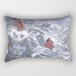 Cardinals Three Rectangular Pillow