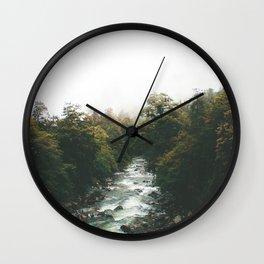 Misty Rivers Wall Clock