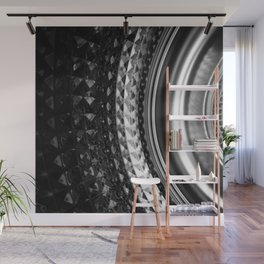 Shimmering textures of laundry machine drum -- Everyday art Wall Mural