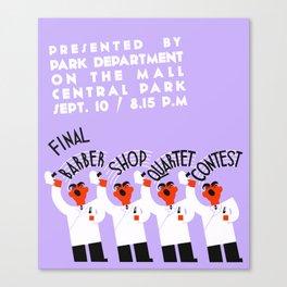 Barber shop quartet song contest Canvas Print