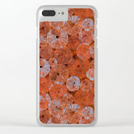 Ocean life in orange and blue Clear iPhone Case