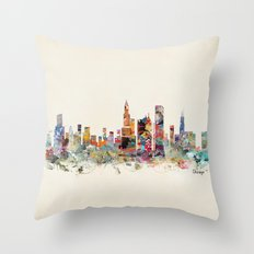 Chicago city  Throw Pillow