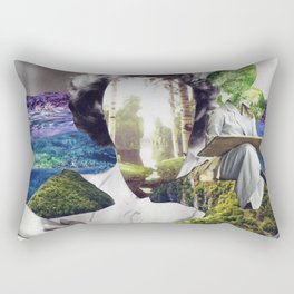 Can you paint me with all the colors of the sea? Rectangular Pillow