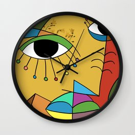 Flower Face Wall Clock
